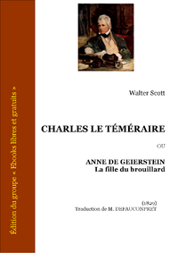 Livre numrique Charles le Tmraire ou Anne de Geierstein La fille du brouillard