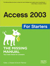 Livre numérique Access 2003 for Starters: The Missing Manual