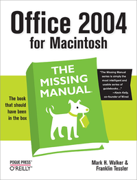 Livre numérique Office 2004 for Macintosh: The Missing Manual