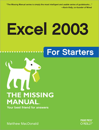Livre numérique Excel 2003 for Starters: The Missing Manual