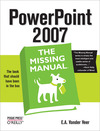 Livre numérique PowerPoint 2007: The Missing Manual