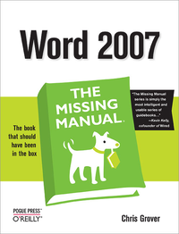Livre numérique Word 2007: The Missing Manual