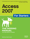 Livre numrique Access 2007 for Starters: The Missing Manual