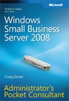 Livre numrique Windows Small Business Server 2008 Administrator&#x27;s Pocket Consultant