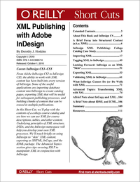 Livre numérique XML Publishing with Adobe InDesign