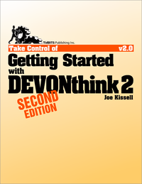 Livre numérique Take Control of Getting Started with DEVONthink 2