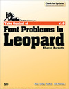 Livre numérique Take Control of Font Problems in Leopard