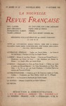 Livre numrique La Nouvelle Revue Franaise N&#x27; 121 (Octobre 1923)