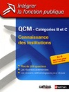 Livre numrique QCM connaissance des institutions - Catgories B et C