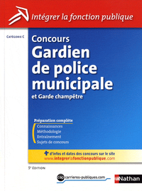 Livre numrique Concours Gardien de police municipale et garde champtre