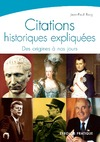 Livre numrique Citations historiques expliques