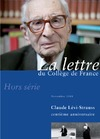 Livre numrique Hors-srie 2 | 2008 - Claude Lvi-Strauss, centime anniversaire - lettre CDF