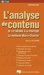 Livre numrique L&#x27;analyse de contenu