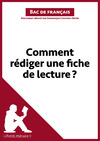 Livre numrique Comment rdiger une fiche de lecture?  (Fiche de cours)