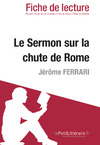 Livre numrique Le Sermon sur la chute de Rome de Jerme Ferrari (Fiche de lecture)
