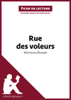 Livre numrique Rue des voleurs de Mathias nard (Fiche de lecture)
