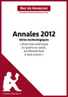Livre numrique Bac de franais 2012 - Annales Sries technologiques (Corrig)