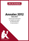 Livre numrique Bac de franais 2012 - Annales Srie ES/S (Corrig)