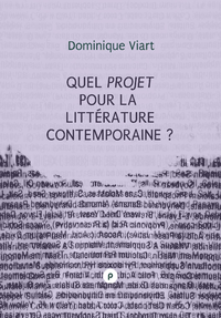Livre numrique Quel projet pour la littrature contemporaine?