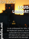 Livre numrique Louis Lambert