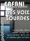 Livre numrique Des Voix sourdes