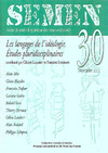 Livre numrique 30 | 2011 - Les langages de l&#x27;idologie. tudes pluridisciplinaires - Semen