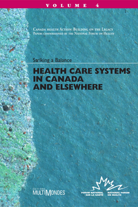 Livre numérique Health Care Systems in Canada and Elsewhere